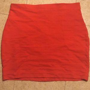 NWT! Express Red Bandaged Skirt